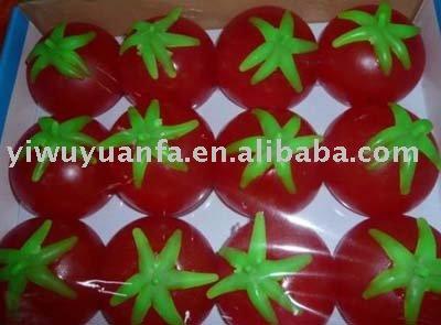 de tomate rojo símbolo de agua bola
