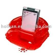 Red Inflatable Sofa Mobile Holder