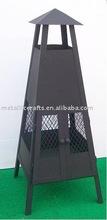 modern steel chiminea