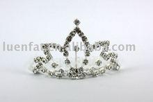 2012 fashion rhinestone crown,good quality hair clip