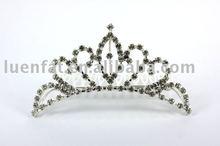 fashion silver wedding crown with rhinestone