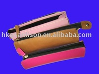School/office/student/pupil/ PEN/PENCIL pen pencil bags/case stationery storage with zip Made of PU/LEATHER