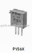PV32P102A01B00-PV32 Series Potentiometer1K 6 mm Round Top Potentiometer Through-hole 20 % Trimmer Potentiometer