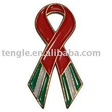 enamel emblem of red ribbon