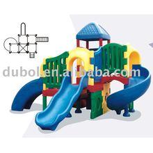 Crazy Fun colored plastic playground slide For Children
