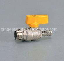 CE certificate male nipple brass gas ball valve