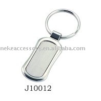 hot sell blank metal keyring with customized logo