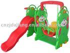 bear plastic kids slide and swing