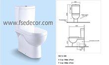 Watermark Certificate Australian Standard Floor Standing Two Piece Toilet Bowl