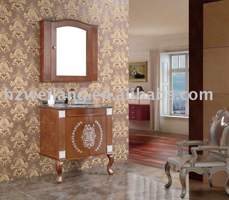 Lavabo Para Baño Antiguo:antiguos de madera gabinete de cuarto de baño con lavabo de cerámica