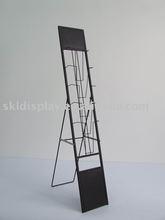 portable material shelf, metal brochure holder