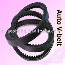Rubber raw edge cogged auto v belt/Fan Belt ( 10X1050 La)