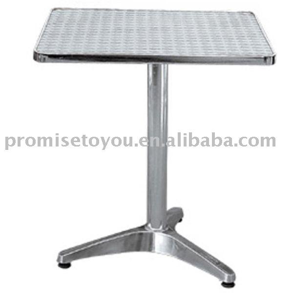 mesa jardim quadrada:Alumínio mesa quadrada mesa de bar mesa de jardim-Mesas de metal-ID