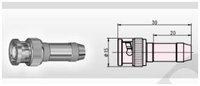 BNC compression coaxial connectors 4 Cable rg58/u