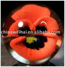 acrylic flower marbel/acrylic flower block/acrylic flower ball