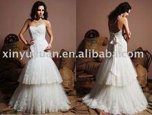 Trumpet/Mermaid Sweetheart Neck Lace Wedding Dress EDB-069