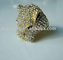 Fashion Leopard Crystal Gothic Ring
