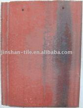 Purple red cement concrete roof tile 420*330mm