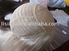 half hand tied fine mono top wig