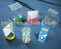 Clear transparent jewellery box packaging with customized design