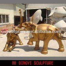 resin/fiberglass elephant sculpture