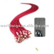 Micro Loop Ring Hair Extensions Red