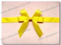 yellow double faced satin ribon festival decoration bow