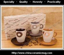 11OZ ceramic coffee mug gift setHRH1170