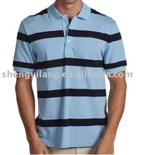 2012 men's 100% cottton stripes polo t shirt