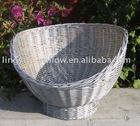 willow pet basket,wicker pet basket