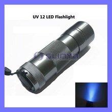12 LED UV Ultra Violet Lamp Torch Flashlight for Camping uv torch torchlight
