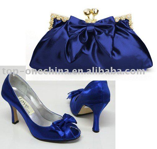 ... Shoes matching Bags  fashion silk royal blue shoes and matching bags