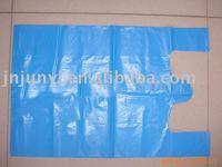 HDPE T shirt blue garbage bag garbage bag on roll t-shirt bag