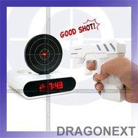 Hot Laser Fun Toy Gun Target Shooting Alarm clock