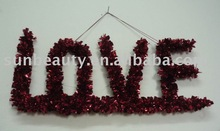Valentine hanging decoration of pvc