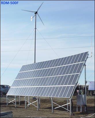 Solar eólica& luz de calle híbrida