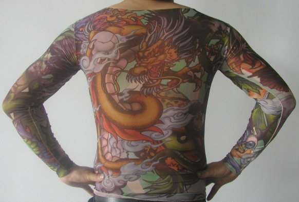 Adult tattoo clothes