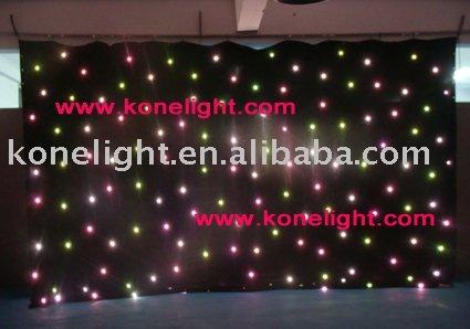 RGB Led star cloth wedding decoration stage backdrop