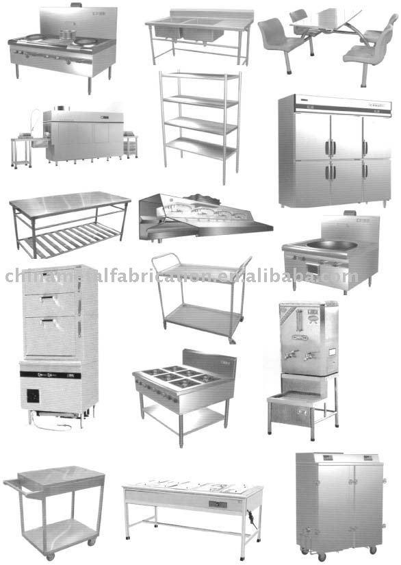 De acero inoxidable de la cocina mueblesMobiliario de cocina