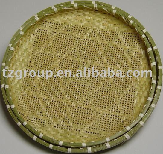 Tecelagem de bambu peneira