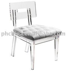 Clear Acrylic George II Chair;Clear Acrylic Dining Chair;Clear Acrylic Leisure Chair