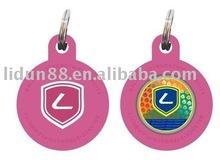 2012 customize silicon circle pet tags