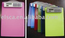 Clipboard calculator with ruler,promotional calculator