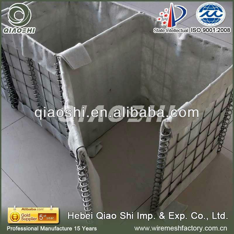 Hesco Bastion with grey geotextile