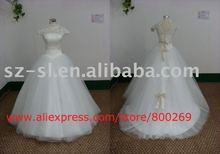 Ball gown wedding dress short sleeve court train SL-4575