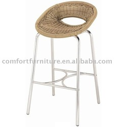 Outdoor Rattan Weaving Bar Stool