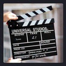 Wholesale Clapper baord Film Slate Director Notice Board Blackboard For Fun Movie Video Making & Decoration
