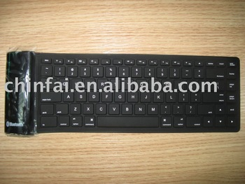 Silicone bluetooth keyboard for laptop