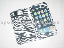 Black wave hard skin case faceplate for iphone 3GS,3G