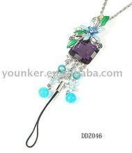 Fashion jewelry,Crystal /Rhinestone Necklace & Mobile Phone Pendant